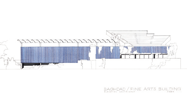 Alvar and Aino Aalto, Project for the Fine Arts Museum of Baghdad within the Civic Center, 1957-1963, Baghdad, Iraq