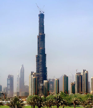 Burj Dubai during the day
