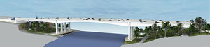 new I-35W bridge over the Mississippi River in Minnesota