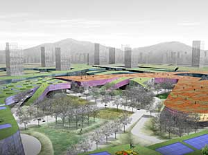Public Administration Town district of Multi-Functional Administrative City in South Korea