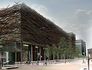 Rudy Ricciotti's bamboo building in Paris.