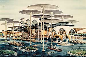 Williams and Smith's design for floating gardens.