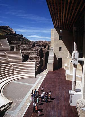 an ancient Roman theater in Sagunto, Spain