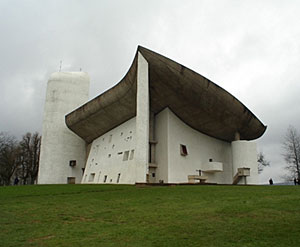 Le Corbusier's Ronchamp chapel, in France