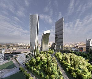 tower designed by Daniel Libeskind for Milan
