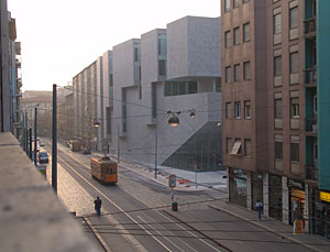 Luigi Bocconi University, in Milan, designed by Ireland's Grafton Architects