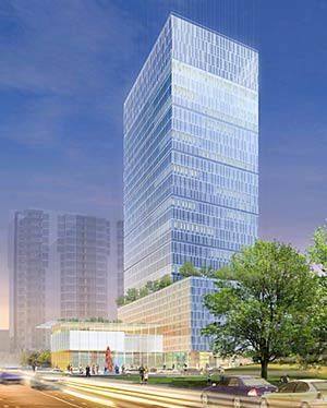 Houston-based developer Hines Interests LP has shelved plans for a 30-story, 434,000-square-foot glass high-rise and accompanying museum.