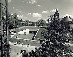 Flansburgh designed the Cornell Campus Store (1971), which he placed underground