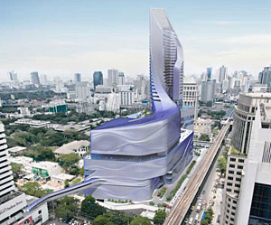 Amanda Levete Architects has been commissioned to design a luxury hotel and shopping mall in Bangkok, Thailand.