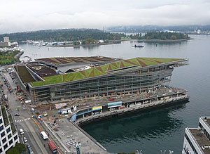 A 6-acre green roof tops a 338,000-square-foot addition to the Vancouver Convention Centre.