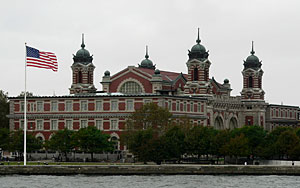 The Ellis Island site will receive $8.8 million to stabilize the baggage and dormitory building.