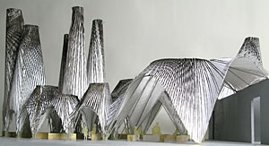 Model of afterparty, the winning project of the 2009 MoMA/P.S.1 Young Architects Program, by the firm MOS.