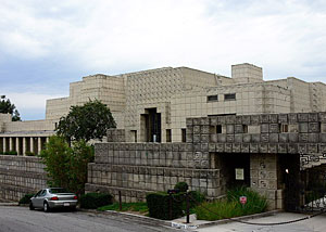 The Ennis House consists of more than 20,000 16-inch-by-16-inch concrete blocks. The house's design was inspired by ancient Mayan temples.
