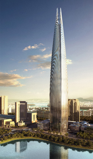 Lotte Super Tower 123, planned for Seoul, South Korea
