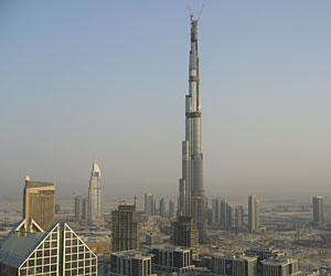 The Burj Dubai, the world's tallest building