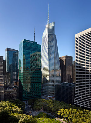 One Bryant Park is the only commercial high-rise building in the U.S. to achieve LEED Platinum