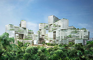 The Interlace, a 1,040-unit residential complex.
