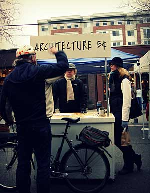 After getting laid off, John Morefield set up an advice booth at a farmers' market in Seattle.