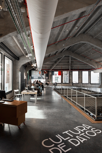 The Medialab-Prado houses start-ups in a former sawmill in Madrid.