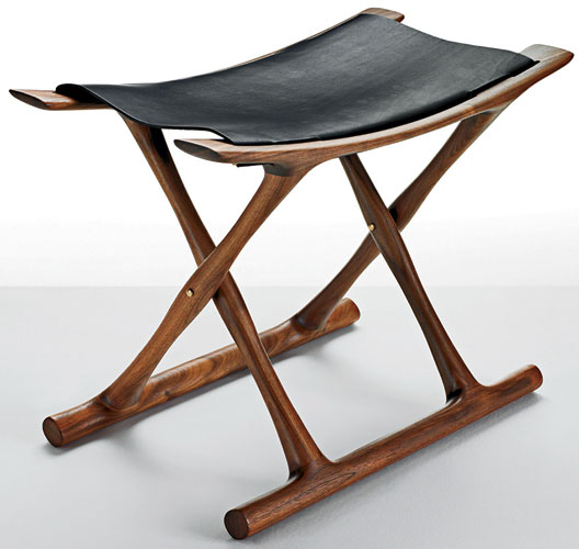 Danish architect Ole Wanscher (1903-85) was inspired by a trip to Egypt to create this stable, lightweight folding chair. Originally designed and produced in 1957, the chair was taken out of produ