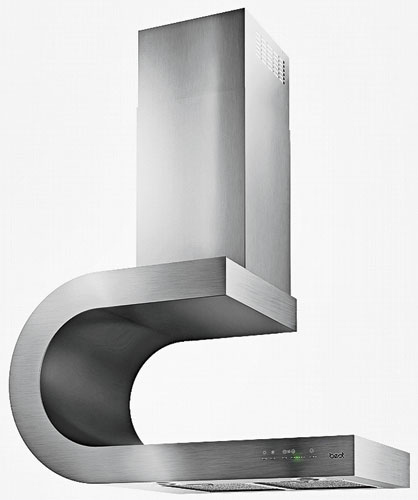 Best has expanded its award-winning Sorpresa collection of Italian-inspired range hoods to include 13 designs in island, chimney, and ceiling models. The collection includes the curvy stainles
