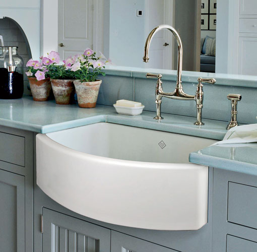 Rohl's Shaws Original Waterside Apron Front Fireclay Kitchen Sink was named the year's best new kitchen product at the 2013 Best of KBIS awards. The latest addition to Rohl's fireclay coll