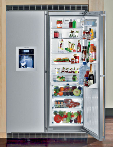 "The new SBS 244 48"" built-in stainless steel refrigerator introduces Liebherr's patented BioFresh Plus technology. Stored at an ideal temperature and humidity, food in the BioFresh Plus"