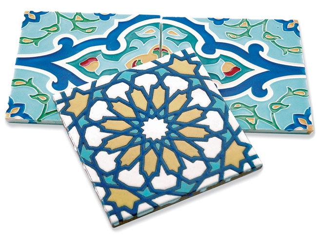 Fireclay Tile applies a coloring-book concept to its online customization tool, Color-It. Designers and consumers alike can choose any of the intricate patterns in the Moroccan and Mexican'inspired Cu