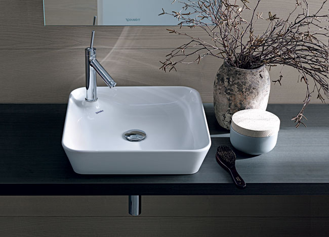 Longtime Duravit collaborator Philippe Starck continues to create new bath collections as well as additions to his previous lines for the brand, such as a ceramic basin for the Starck 1 series. The ge
