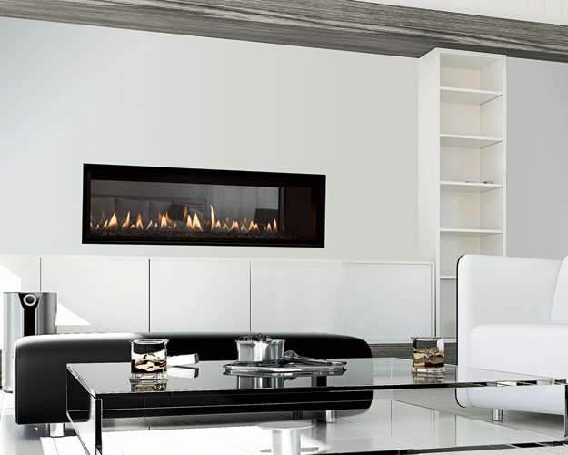On trend with the smart-home technology craze, Heat & Glo's Mezzo gas fireplace integrates WiFi connectivity, allowing homeowners to power the unit on or off, adjust levels, activate child safety