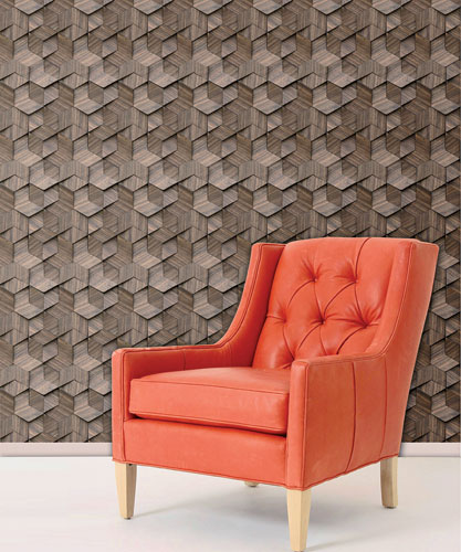 These highly dimensional wall panels from Architectural Systems come in seven intricate patterns formed with reclaimed teak, ipe, ironwood, or walnut veneer (high-pressure laminate over MDF is offered