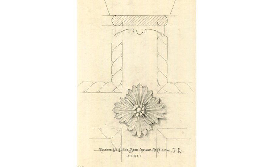 Original drawings for Hearst Castle by architect Julia Morgan.