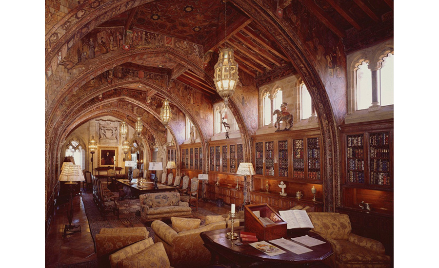 The Gothic Study at Hearst Castle.