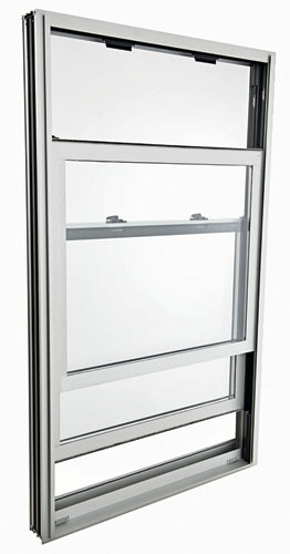 Kawneer's updated AA 3350 IsoPort window now meets the demands of projects thatrequire a 70 PSF design pressure for windows of particular sizes. Available in single-hung, double-hung, hori