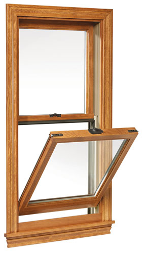 The Signature Series of aluminum-clad wooden windows and patio doors is a midpriced collection including casement, awning, picture, double-hung, and other options. The double-hungs are amo