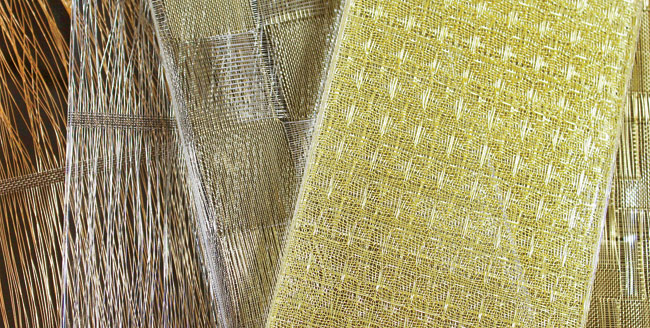 French woven-metal-textile manufacturer Eh Oui makes its debut in the American architectural market with a new decorative-glass line for Bendheim. Four designs are offered: Tempo resem
