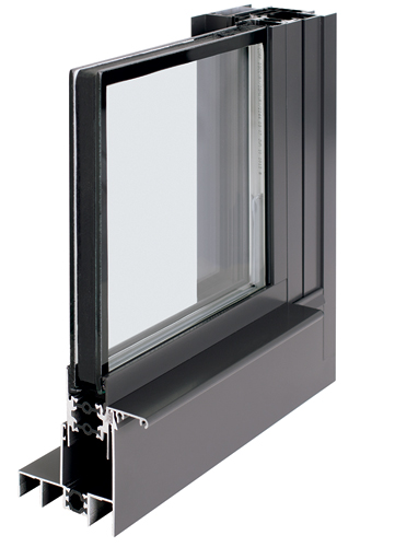 "An expansion of EFCO's Xtherm fenestration line, HX32 is a single-hung tilt window. Its 3¼""-deep frame is thermally isolated from the glass with glass-reinforced nylon struts, resulting in"