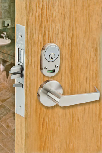 "Clearly displaying what position a door lock is in can add a layer of both security and privacy. These new mortise-lock status indicators read ""Occupied/Vacant"" or ""Locked/Unlocked&#"