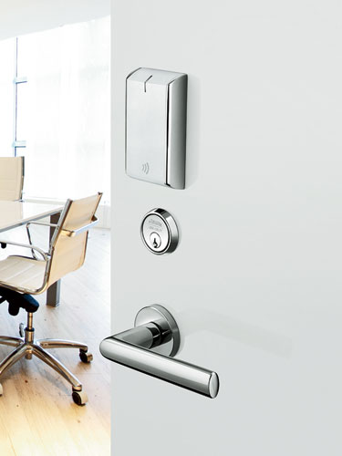 Access control goes high-tech with this WiFi-enabled device. Featuring a streamlined design to suit any aesthetic, the IN120 lock works on 802.11b/g/n infrastructures, future-proofing it for use with