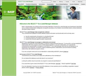 BASF's SELECT Eco-Label
