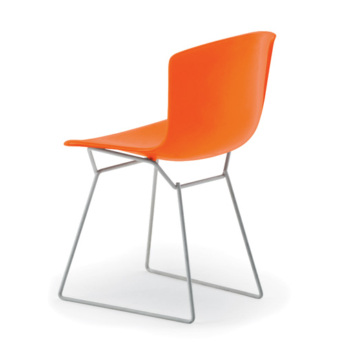Knoll honored Harry Bertoia with a new plastic version of his metal side chair.