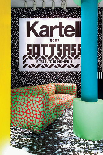 Kartell turned its show-room into a post­modern extravaganza.