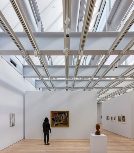 The Only Top Lit Gallery Is On The Eighth Floor Where Sawtooth Skylights  Provide The