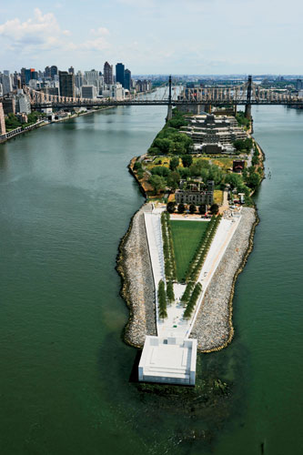 Commemorating the legacy of FDR, Louis I. Kahn's last monument rises, 38 years after he designed it, on a watery urban site.