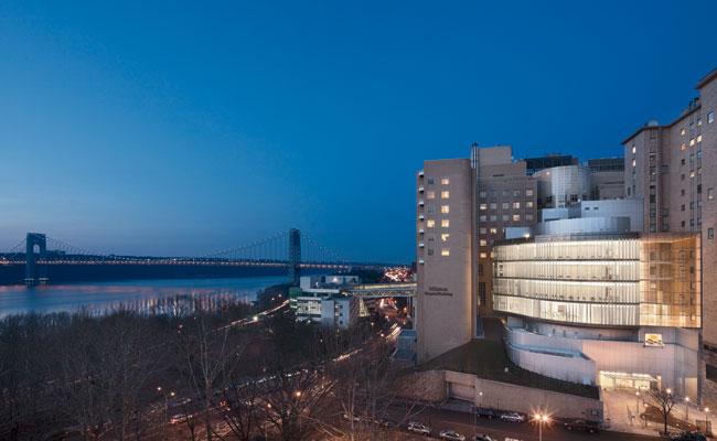 The Milstein Family Heart Center's waiting rooms and ICU enjoy spectacular Hudson River views.
