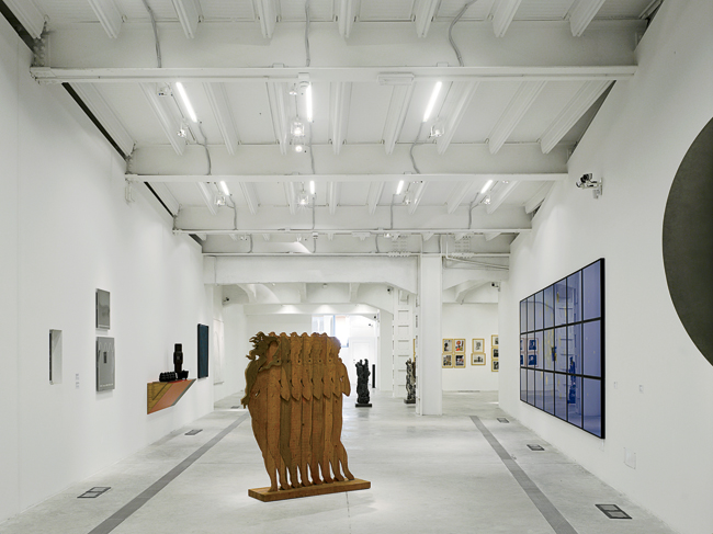 Galleries in the existing museum provide a neutral backdrop for a range of contemporary art.