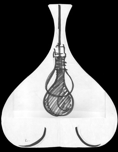 An original sketch of the lamp design.