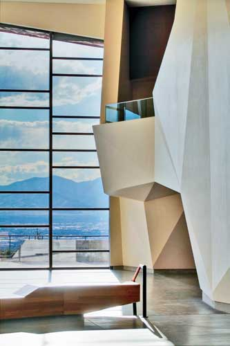 The canyon includes one glazed wall that allows visitors to take in sweeping views of Salt Lake City and the Salt Lake Valley.