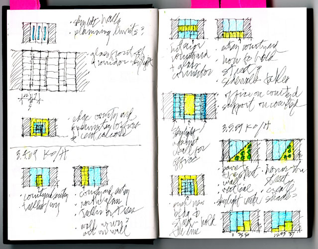 The architect's sketchbook.