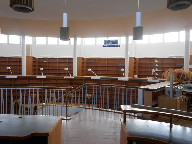 The original library designed by Alvar Aalto is now being renovated.